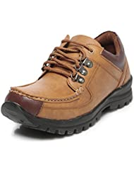 TEN Men's Tan Leather Boots - B01HQ3HDZS
