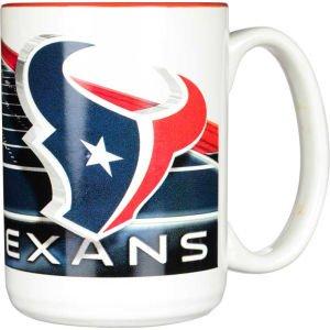 Houston Texans 15Oz. Two-Tone Sublimated Mug - White/Navy Blue