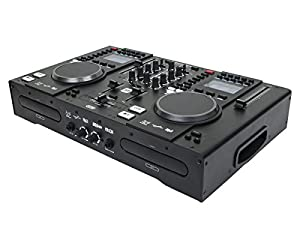 Monoprice All-In-One DJ System with Dual CD & USB Flash Players, FX & MIDI Controller
