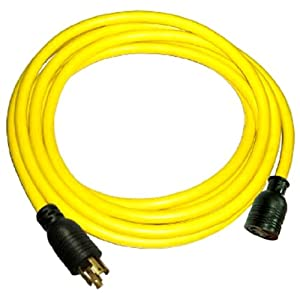25-Foot 10/4 30 Amp 125/250 Volt 4 Prong L14-30 Transfer Switch Cord