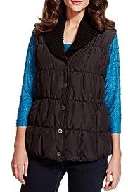 Per Una Knitted Shawl Collar Gilet with Stormwear [T62-4009J-S]