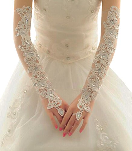 Elegant Wedding Gloves Bride Bridal Party Dress Lace Gloves-07