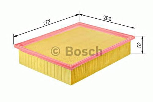 BOSCH Engine Air Filter Insert Fits FORD Focus C-Max VOLVO C30 1.8-2.0L 2003- (Air Filter 7440 compare prices)