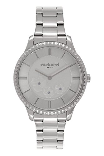 Cacharel CLD-FM/036 Women's Watch Analogue Quartz Silver Dial Silver Steel Strap