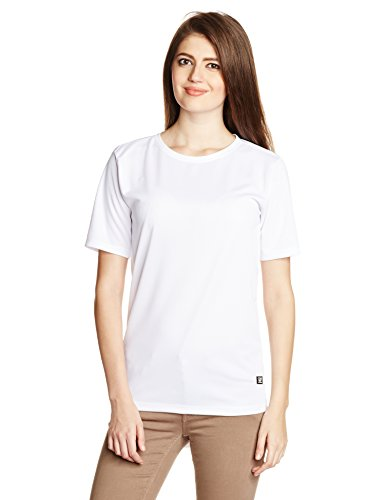 Voi Jeans Women's Plain T-Shirt (VOTSW229_White_XL)