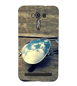 Sunglasses on the Bench 3D Hard Polycarbonate Designer Back Case Cover for Asus Zenfone 2 Laser ZE500KL (5 INCHES)