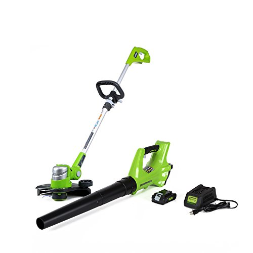 GreenWorks STBA24B210 24V Cordless String Trimmer and Blower Combo Pack (Blower And Weed Wacker Combo compare prices)