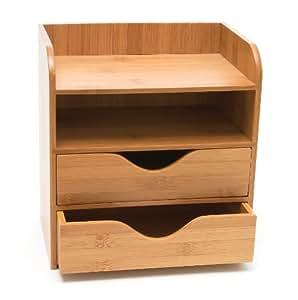Lipper International Lipper International 4-tier Mini Desk Organizer, Brown