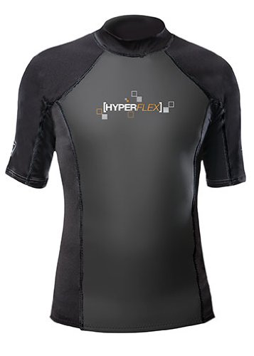 Hyperflex Wetsuits Men's Polyolefin 1.5mm 50/50 S/S Shirt, Black, Large - Surfing, Windsurfing & Wakeboarding (Wet Shirt compare prices)
