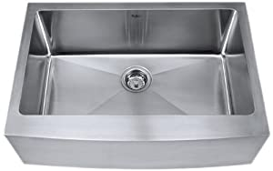 Kraus 30 inch Farmhouse Apron Single Bowl 16 gauge Stainless Steel Kitchen Sink