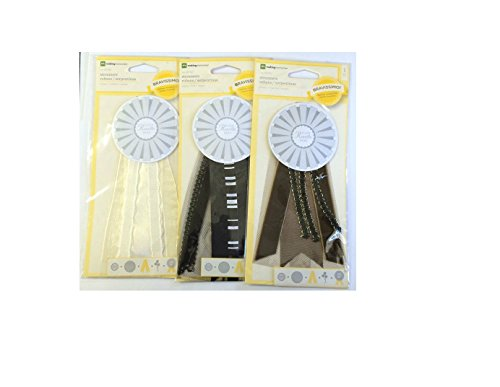 Making Memories Award Streamers In Brown, Cream & Black - Pack of 3 (67387)
