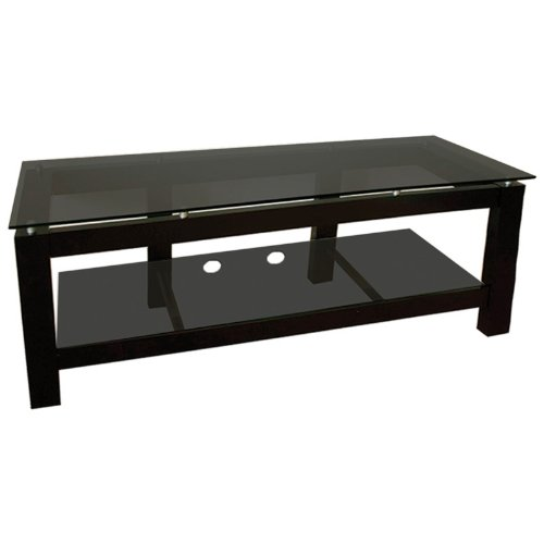 Cheap Plateau SL Series 64 Inch 2 Shelf TV Stand Black on Black (SL-2V (64) (B)-BG)