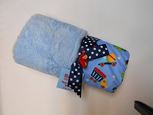 Baby Essentials Plush Reversible Blanket Cars and Trucks - 1