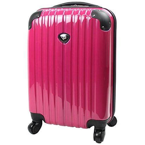 【SUCCESS サクセス】 【 アウトレット スーツケース 小型 Sサイズ 超軽量 キャリーバッグ 4輪 【AT-3783 シングルファスナーモデル】 (小型 52cm, ショッキングピンク)