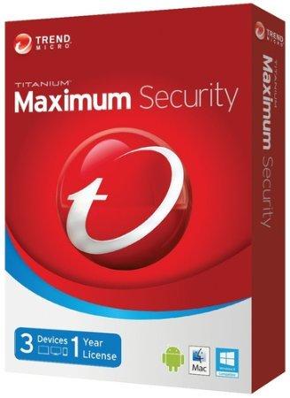 Trend Micro Titanium Maximum Security 2014/1 an 3 appareils pour Windows, Mac, Android – le code de la clé d'activation sera envoyé par e-mail