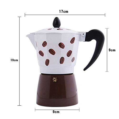 Jimei Italian Moka Express Stovetop Espresso Maker Pot Coffee Latte 6 cups Home Garden Kitchen ...