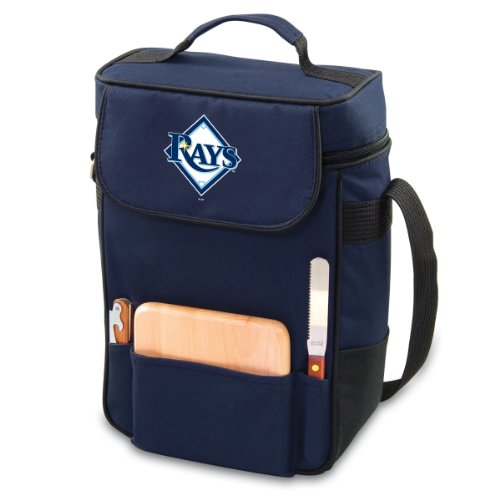 MLB Tampa Bay Rays Duet Insulated 2-Bottle Wine and Cheese Tote