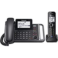 Panasonic Link2Cell DECT 6.0 Conference Phone With 1 Corded And 1 Cordless Handset
