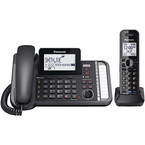 Panasonic KX-TG9581B Link2Cell DECT_6.0 1-Handset 2-Line Digital Cordless Phone (Panasonic Phones 1 Handset compare prices)