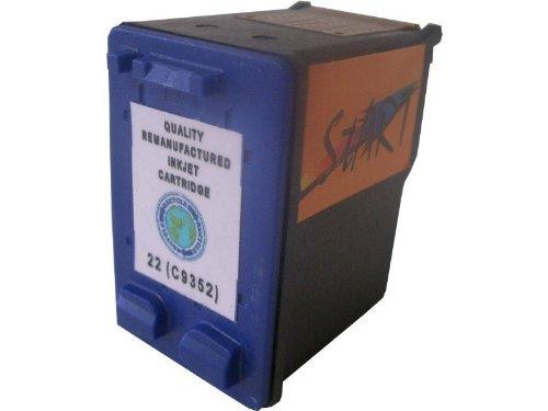 Start - 1 Ersatz Patrone zu HP Patrone Cartrige Nr. 22 - color - auch C9352AE - passt in die folgenden Drucker: HP Deskjet 3920, 3940, D1360 , D1460 , D2330 , D2360 , D2460 , F370 , F375 , F380 , F2100, F4180. HP Officejet (All-in-One) 4315 , 4355 , 5605 , 5607 , 5610 , 5615. HP Printer / Scanner / Copier 1402 , 1410 , 1415 , 1417. Sofortiges Einsetzen der Tintenpatrone - kein Chipumbau - 100% Füllstandsanzeige - Top Tinte - Qualitäts Ersatzpatrone