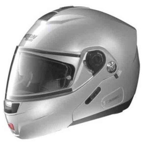 Nolan N91 Solid Colors Helmet (Platinum Silver, Medium)