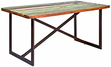 Links 85300400 Colori Table Bois Recyclé Rouille 160 x 90 x 76 cm