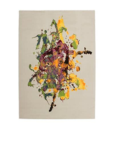 Teppich Art 103 weiß/mehrfarbig 160 x 230 cm