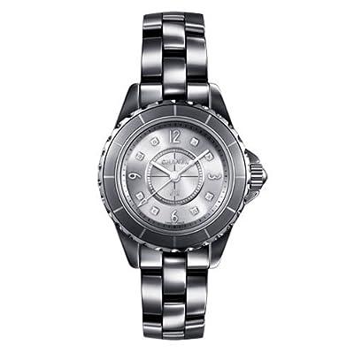 Chanel J12 Titanium Ceramic 29mm Diamond Dial Quartz Watch - H3401
