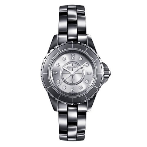 Chanel J12 Titanium Ceramic 29mm Diamond Dial Quartz Watch - H3401