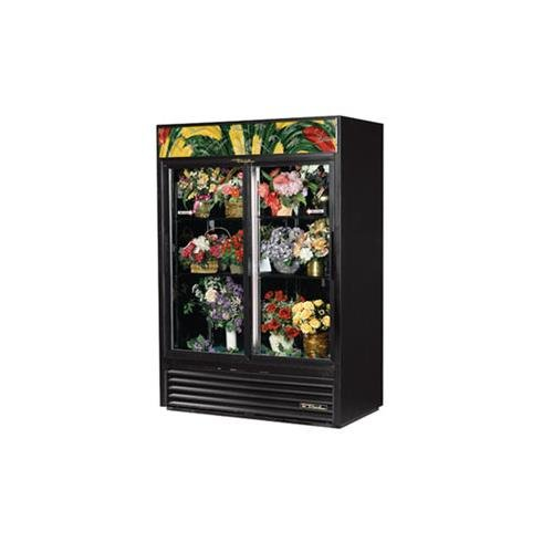True GDM-47FC-LD Floral Merchandiser - 54 Inch - 2 Section with 2 Glass Doors