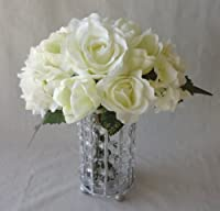 Cream Rose/Tulip/Hydrangea Wedding Bouquet - Lesbian Wedding Bouquet