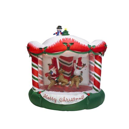 Amazon ft gemmy rotating christmas bear santa