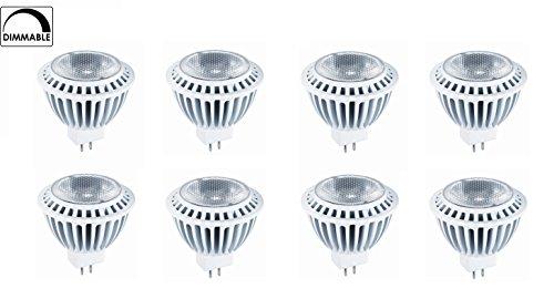 8-Pack Of Hyperikon® Mr16 Led 7-Watt (50-Watt Replacement), 4000K (Daylight), 510Lm, Wide Flood Light Bulb, Dimmable, Ul-Listed