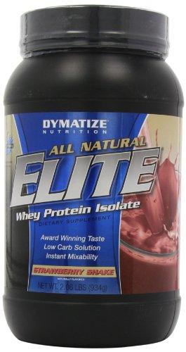 Dymatize Nutrition All Natural Elite, Natural Strawberry Shake, 2.06 -Pound