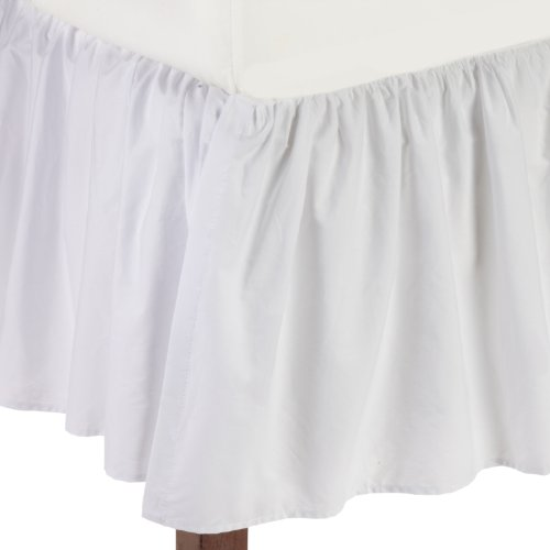 American Baby Company 160-WH Percale Crib Bed Skirt (White)