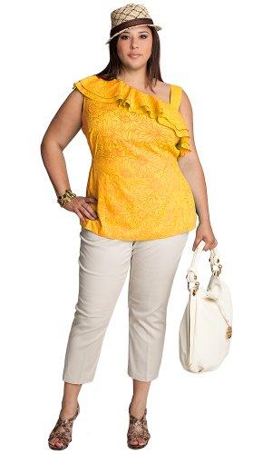 Buy IGIGI by Yuliya Raquel Plus Size Clara Ruffle Top
