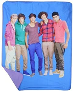 Blue One Direction Fleece Throw - One Direction Fleece Blanket from JP