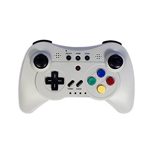 Old Skool Wireless Pro Controller Game Pad for Nintendo Wii U - Grey (Wii U Pro Controller Snes compare prices)