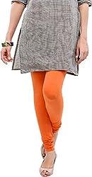 Anuze Fashions Orange Cotton Lycra Ruby Design Legging