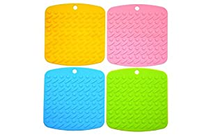 Silicone Pot Holder, Trivet Mat,non-slip Hot Pads, Jar Opener, Bacon Press And Oven Use,spoon Rest And Garlic Peeler, Flexible, Durable, Dishwasher Safe, Heat Resistant Hot Pads And Coasters Cup Insulation Mat