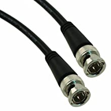"TPI 59-024-1M PVC Jacketed RG59/U Molded BNC Male to Male Coaxial Cable, 75 Ohms, 24"" Length, Black"