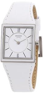 Boccia - 3148-03 - Montre Femme - Quartz Analogique - Bracelet Cuir Blanc