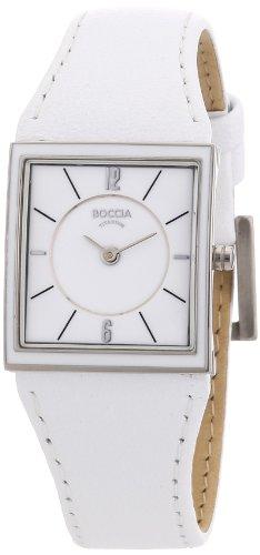 Boccia Ladies Titanium Leather Strap Watch B3148-03