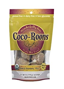 Coco-Roons PB and J Cookie, Strawberry and Almond, 6-Ounce