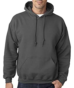 Gildan Adult Heavy Blend Hooded Sweatshirt (Charcoal) (Small)