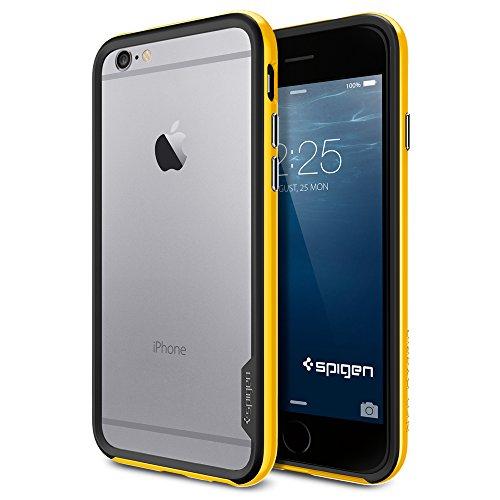 iPhone 6 ケース, Spigen® [ スリム バンパー ] Apple iPhone 4.7 (2014) ネオ・ハイブリッド EX The New iPhone アイフォン6 (国内正規品) (レベントン・イエロー SGP11027)