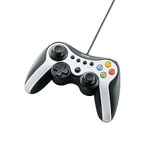 ELECOM ゲームパッド USB接続 Xinput/DirectInput両対応 Xbox系12ボタン振動/連射 【ドラゴンクエストX 眠れる勇者と導きの盟友オンライン推奨】 シルバー