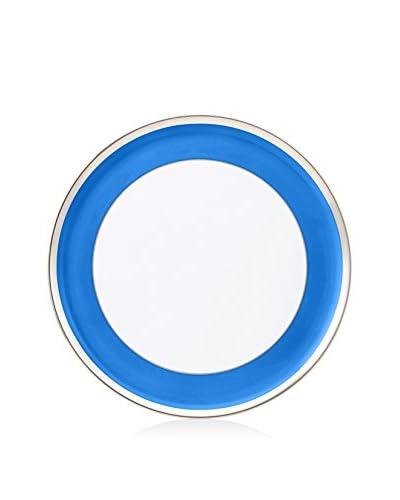 Haviland Laque de Chine Cake Platter, Azure/Platinum