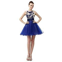 Organza/Satin Beaded Bateau Neck Homecoming Dress/Mini Dress