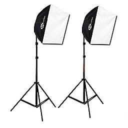 Studio Photography Video Lighting Kit EZ Softbox 24in x 24in 650 Watts